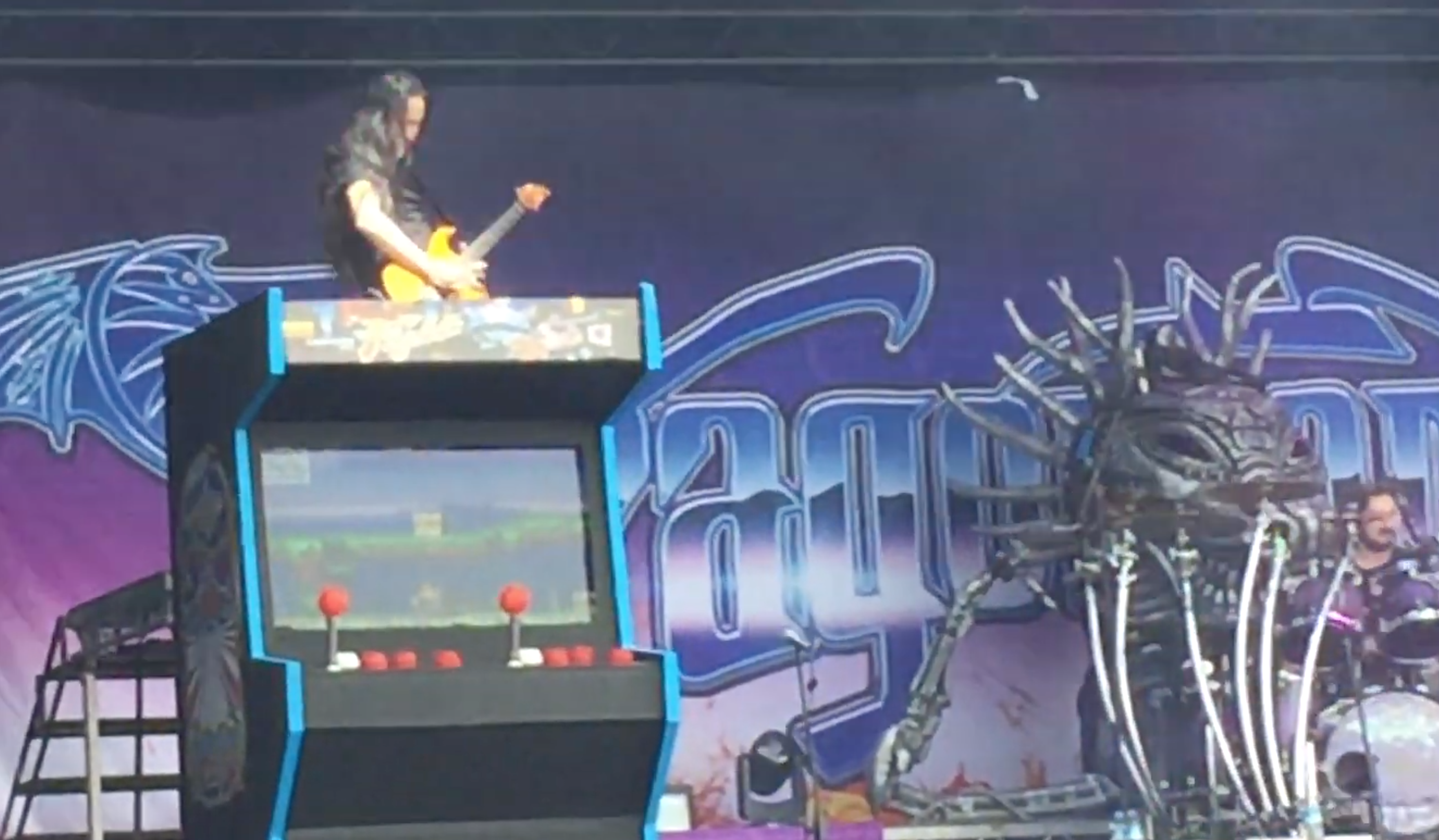 DRAGONFORCE Have Giant Arcade Games On Stage With Them Now