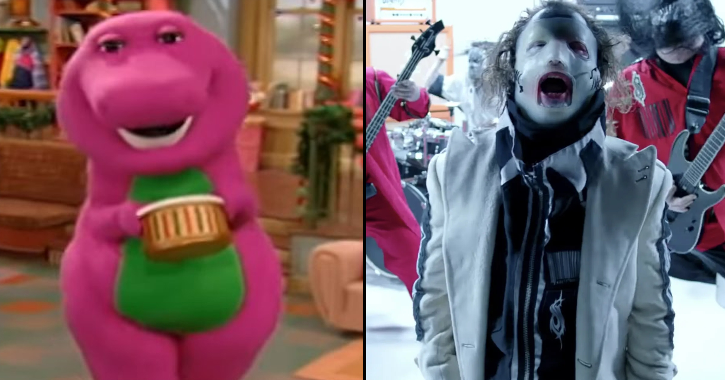 SLIPKNOT Mashed Up With The Barney Theme Song Is Too Funny